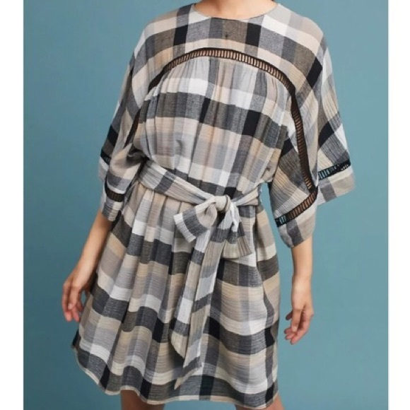 8d5891bc791e Anthropologie Dresses & Skirts - Anthropologie Tie Waist Kimono Tunic Dress  Size M